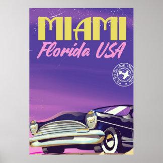 Poster vintage de Miami Florida EUA