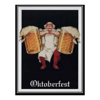 Poster vintage de Oktoberfest