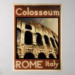 poster vintage de Roma Italia