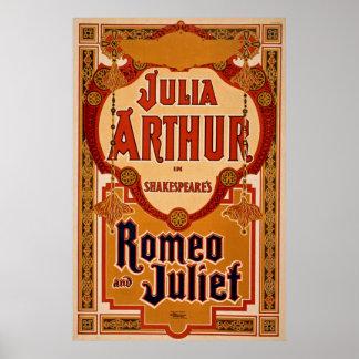Poster vintage de Romeo & de Juliet