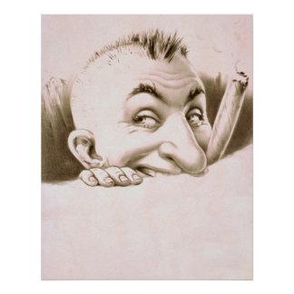 Poster vintage do homem do charuto