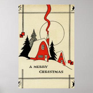 Poster vintage do Natal
