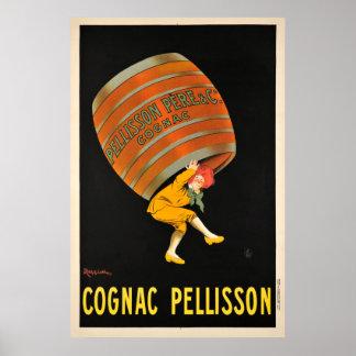 Poster vintage do tambor da bebida de Pellisson do