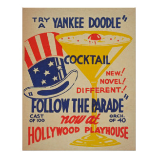 Poster vintage do teatro de Hollywood