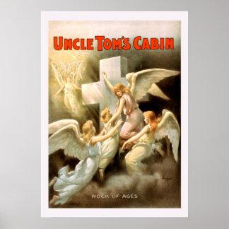 Poster vintage do tio Toms Cabine