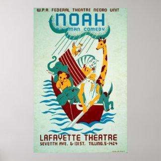 Poster vintage federal do teatro de WPA da arca de