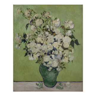 Poster Vintage GalleryHD floral dos rosas de Vincent van