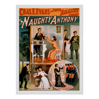 Poster vintage impertinente de Anthony