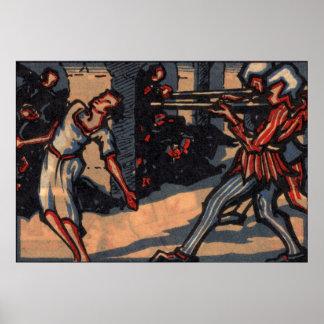 Poster vintage: Menina que está sendo matada por a Pôster