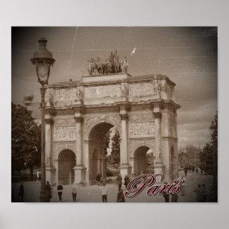 Poster Vintage Paris: Arco do Triunfo