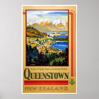 Poster vintage restaurado Queenstown de Nova