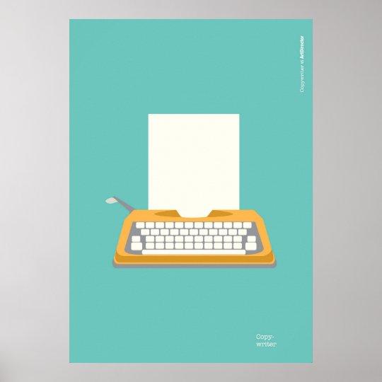 Pôster Vintage Typewriter