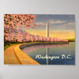 Poster vintage, Washington DC Pôster