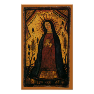 Pôster Virgem Maria que Praying por Pedro Antonio