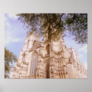 Pôster Vista da igreja de York