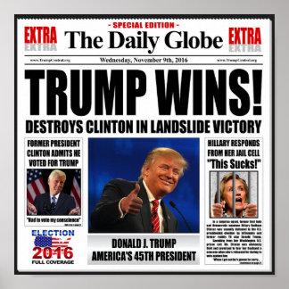 Poster Vitórias do trunfo! Anti jornal falsificado