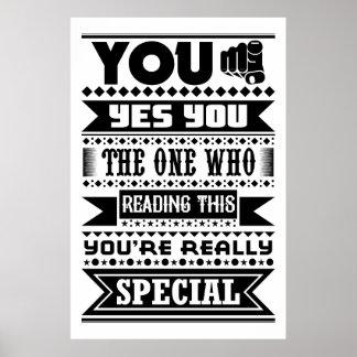 Pôster Você é especial (as citações inspiradores)