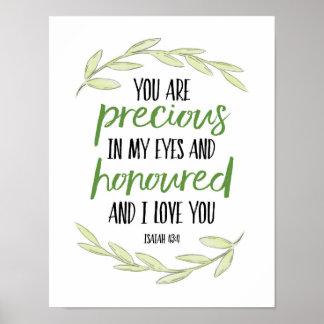 Poster Você é precioso em meus olhos - 43:4 de Isaiah