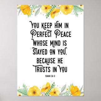 Pôster Você mantem-no na paz perfeita