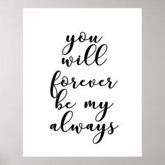 Poster Você será para sempre meu sempre