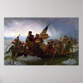 Poster Washington que cruza o Delaware por Emanuel Leutze