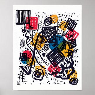 Poster Wassily Kandinsky - arte abstracta pequena dos