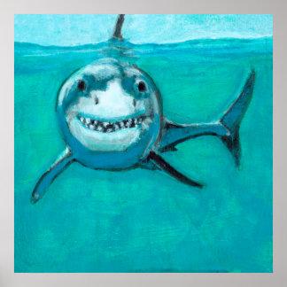 """Poster """"Wayne"""" o grande tubarão branco"""