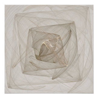 """Pôster """"Web poster do quadrado da fantasia do Fractal da"""