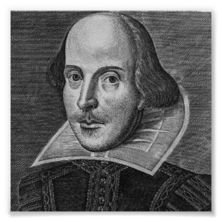 Poster William Shakespeare 1623