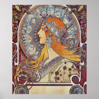 Poster Zodíaco por Alphonse Mucha