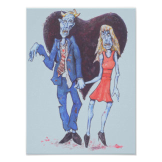 Poster Zombis no amor