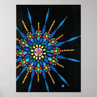 Posters coloridos da pintura do mosaico de pedra