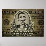 Posters da edição de Obama do capitalismo do zombi