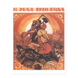 Posters da propaganda de União Soviética da guerra Cartoes Postais