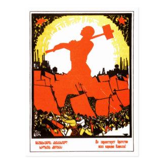 Posters da propaganda de União Soviética da guerra Cartões Postais