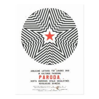 Posters da propaganda de União Soviética da guerra Cartão Postal