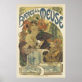 Posters de Nouveau da arte - beleza francesa