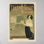 Posters de Nouveau da arte - Teatro REGIO