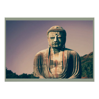 Posters do senhor buddha do vintage pôster