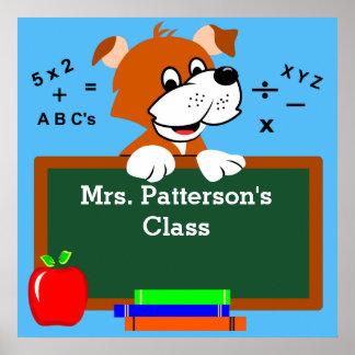 Posters personalizados da arte da sala de aula
