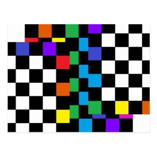 Postmoderno retro Assorted do cartão do arco-íris