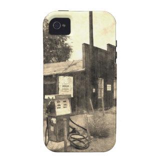 Posto de gasolina velho do vintage capas para iPhone 4/4S