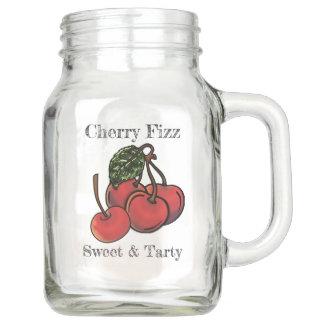 Pote De Vidro Mason Fizz doce e Tarty da cereja (personalizado)