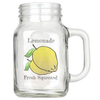 Pote De Vidro Mason Limonada espremida fresca do país (personalizada)