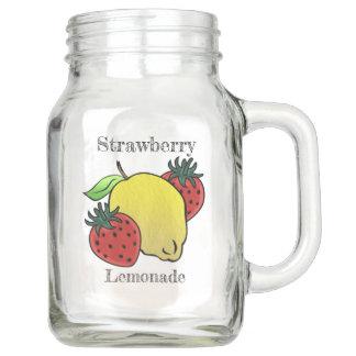 Pote De Vidro Mason Minha limonada favorita da morango (personalizada)