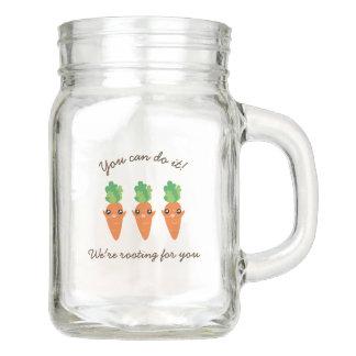 Pote De Vidro Mason Nós estamos enraizando para você cenouras