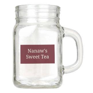 Pote De Vidro Mason O chá doce de Nanaw