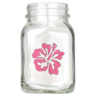 Pote De Vidro Mason Peça central havaiana tropical de Luau da flor do