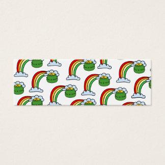 Pote do arco-íris do ouro cartão de visitas mini