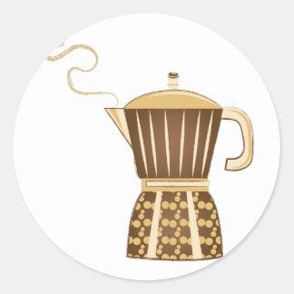 Pote do café adesivo